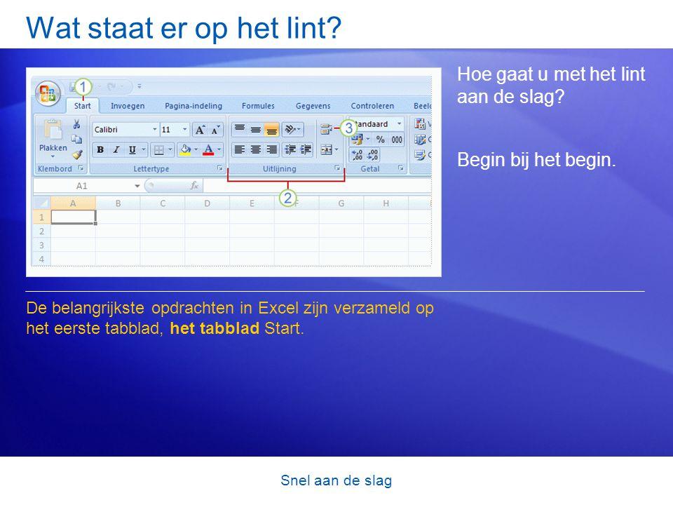 Snel aan de slag Test 3, vraag 1 Als u een bestand dat in een eerdere versie van Excel is gemaakt, opslaat als een Excel 2007-bestand, kan het bestand gebruikmaken van alle nieuwe Excel-functies.