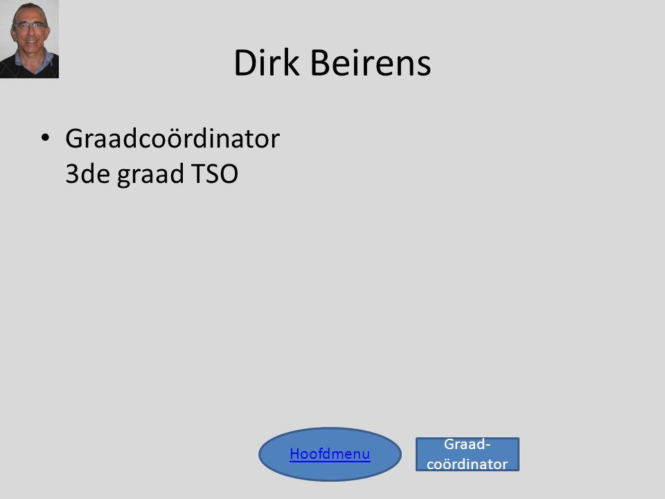 Dirk Beirens • Graadcoördinator 3de graad TSO Hoofdmenu Graad- coördinator
