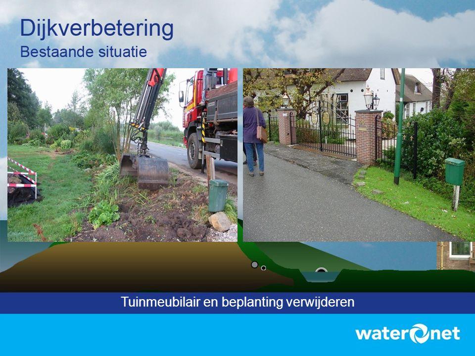 Tuinmeubilair en beplanting verwijderen
