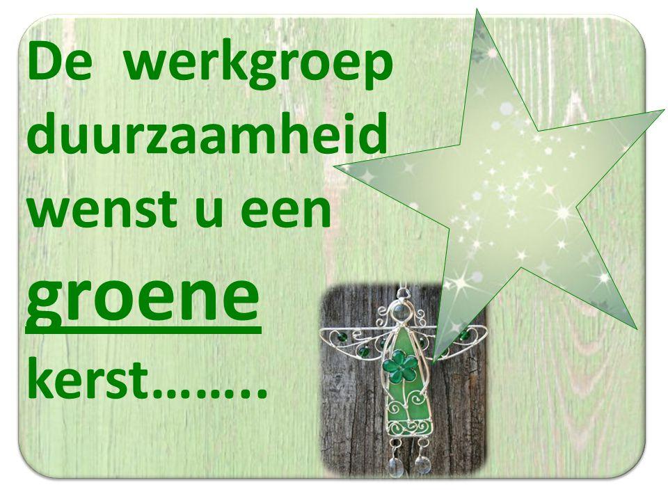 De werkgroep duurzaamheid wenst u een groene kerst……..