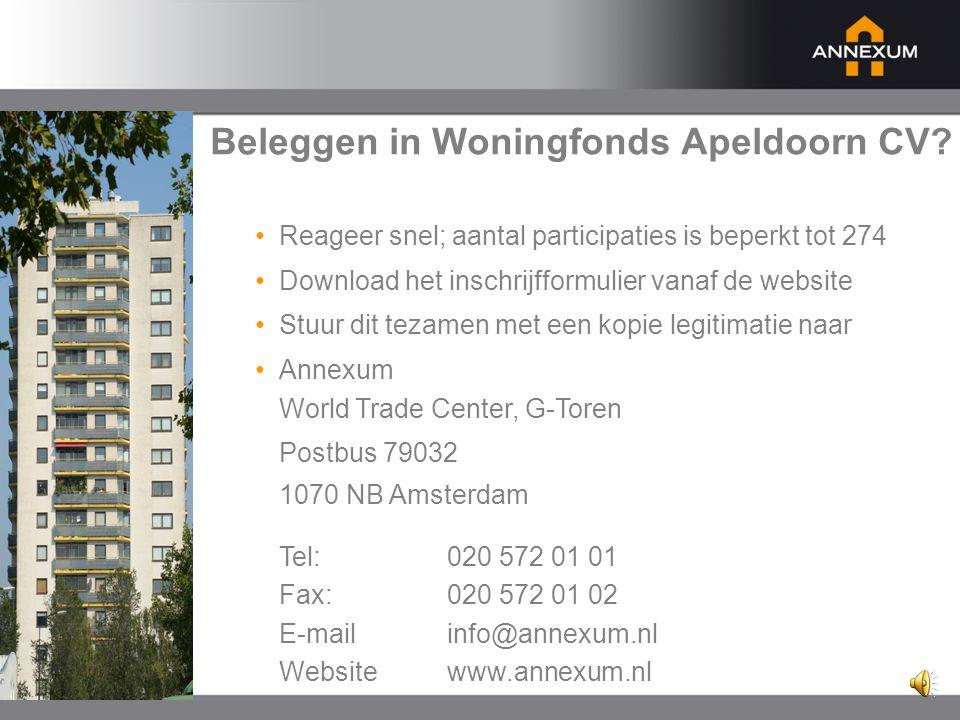 Aantrekkelijk rendement • Totale fondsinvestering : € 23.075.000 • Hypothecaire financiering :€ 14.500.000 (ca.