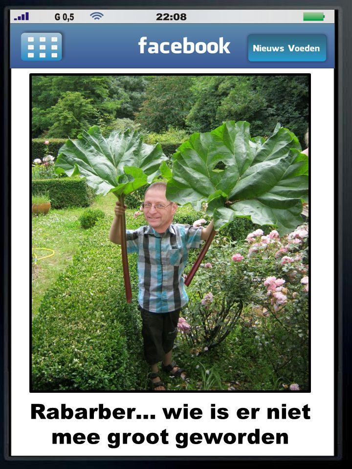 Rabarber… wie is er niet mee groot geworden