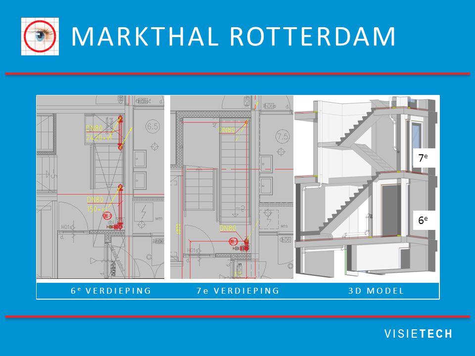 MARKTHAL ROTTERDAM VISIE TECH 6 e VERDIEPING 7e VERDIEPING 3D MODEL 6e6e 7e7e