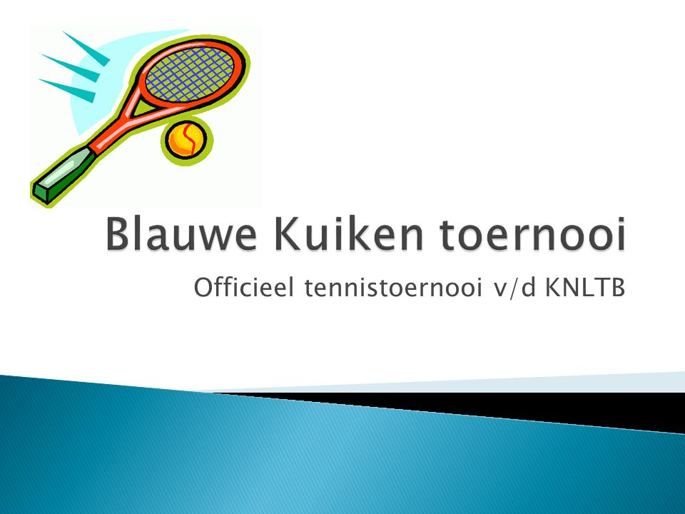 Officieel tennistoernooi v/d KNLTB