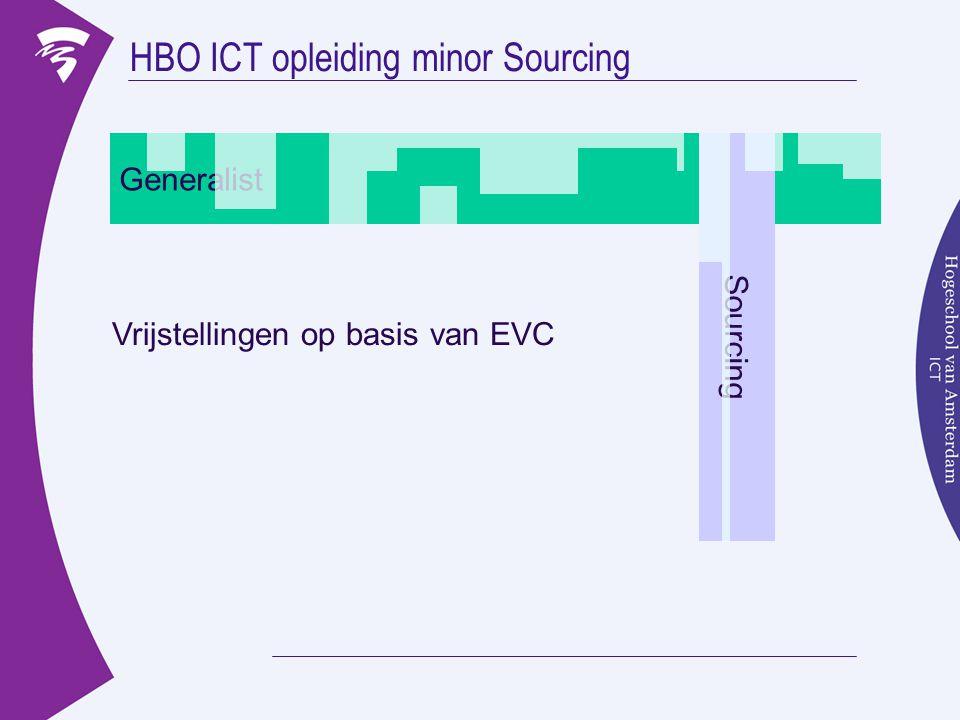 HBO ICT opleiding minor Sourcing Generalist Sourcing Vrijstellingen op basis van EVC
