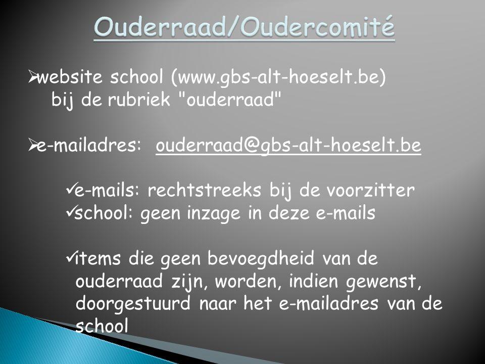  website school (www.gbs-alt-hoeselt.be) bij de rubriek
