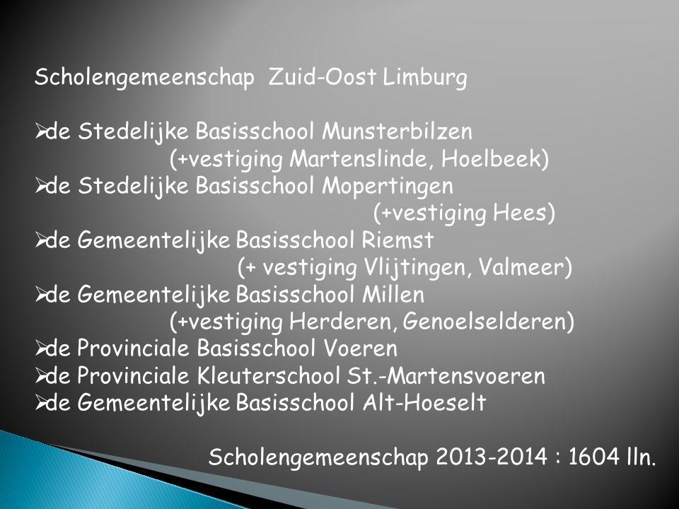 Scholengemeenschap Zuid-Oost Limburg  de Stedelijke Basisschool Munsterbilzen (+vestiging Martenslinde, Hoelbeek)  de Stedelijke Basisschool Moperti