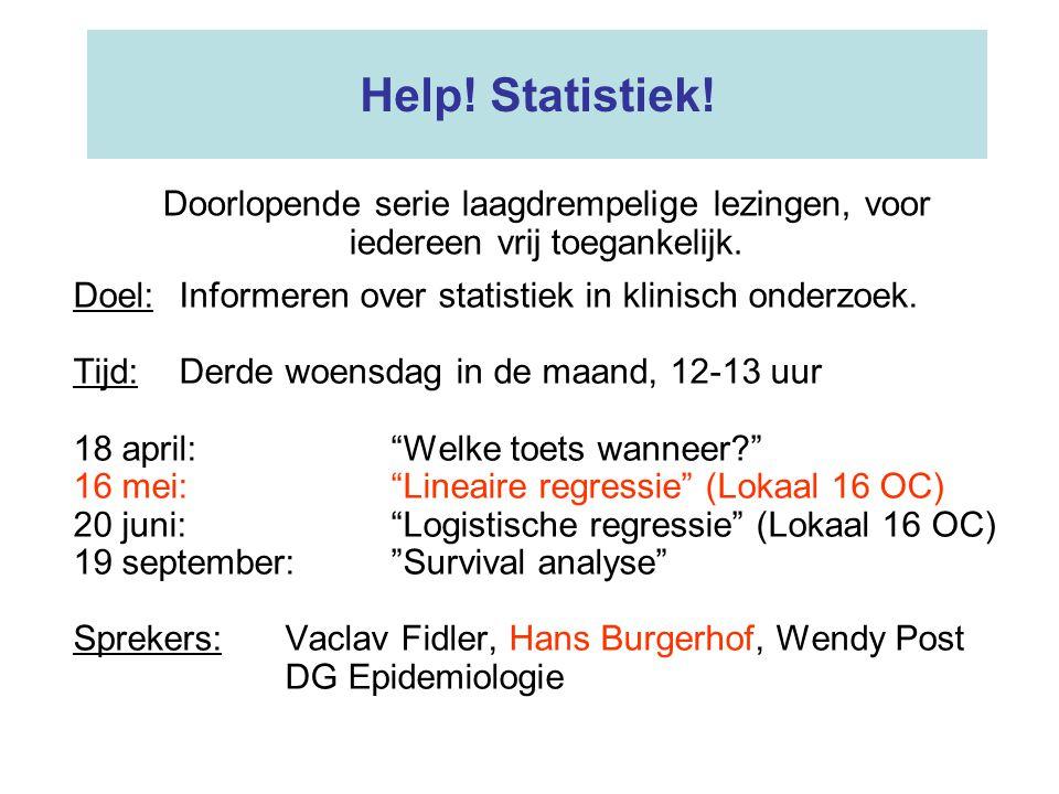Conclusie van deze enkelvoudige regressie-analyse: •Hoe langer je studeert hoe lager je cijfer •????.