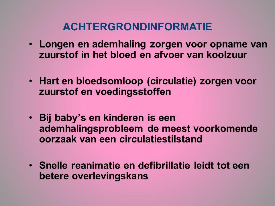 •Longen en ademhaling zorgen voor opname van zuurstof in het bloed en afvoer van koolzuur •Hart en bloedsomloop (circulatie) zorgen voor zuurstof en v