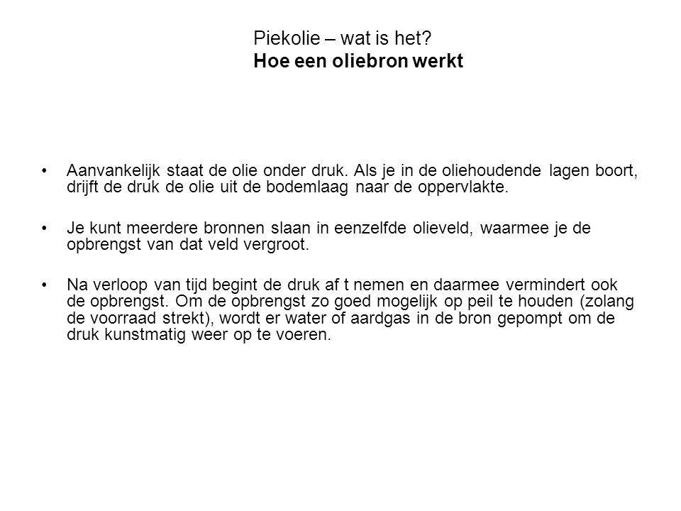 bron: www.lastoilshock.com Olieproducenten (98) Post-Piekolie producenten (64) Transition training 2009