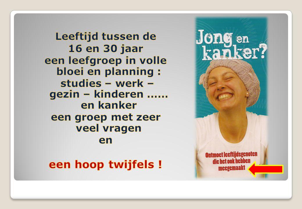 Wie zit in De groep . Rond 18 à 25 jongeren van verschillende klinieken uit Vlaanderen.