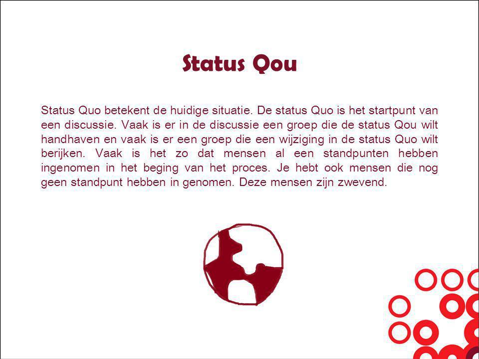 Status Qou Status Quo betekent de huidige situatie.