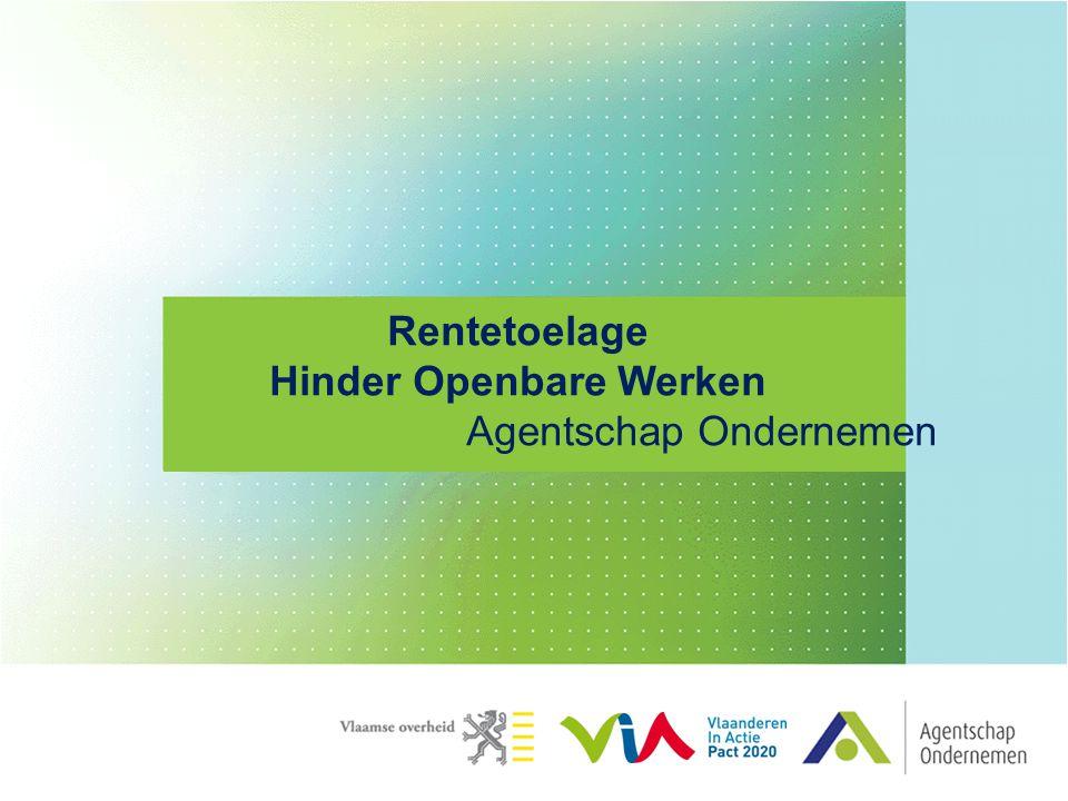 Rentetoelage Hinder Openbare Werken Agentschap Ondernemen