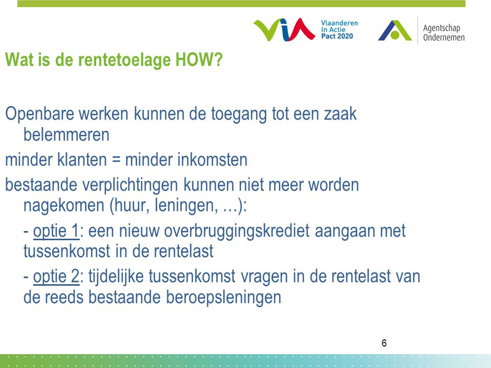 Wat is de rentetoelage HOW.
