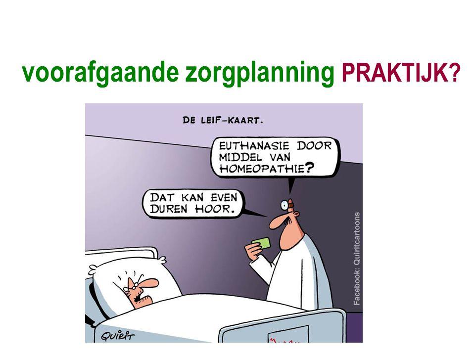 voorafgaande zorgplanning PRAKTIJK?