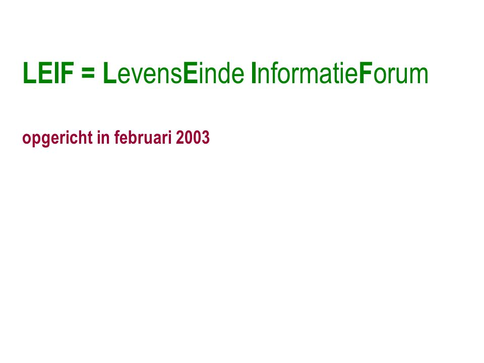 opgericht in februari 2003