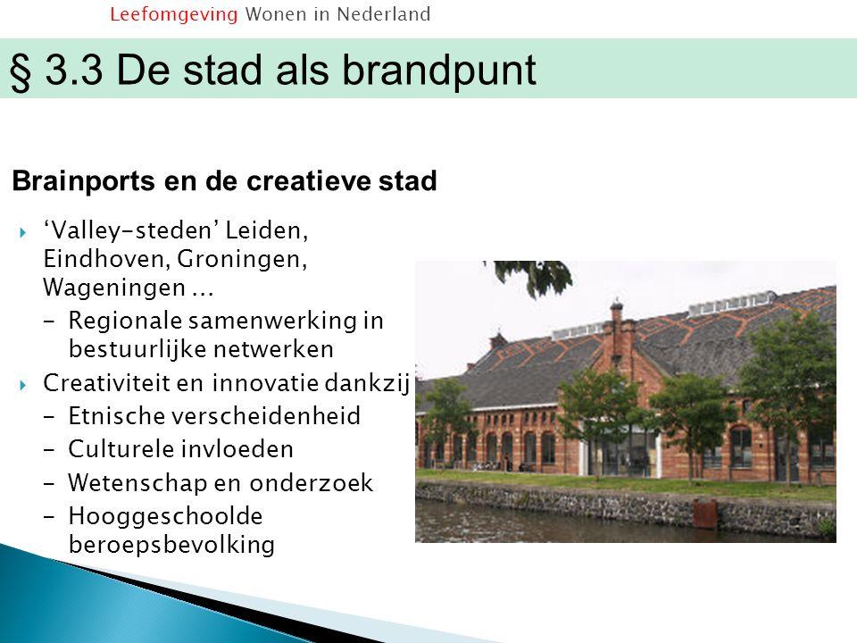  'Valley-steden' Leiden, Eindhoven, Groningen, Wageningen... -Regionale samenwerking in bestuurlijke netwerken  Creativiteit en innovatie dankzij -E
