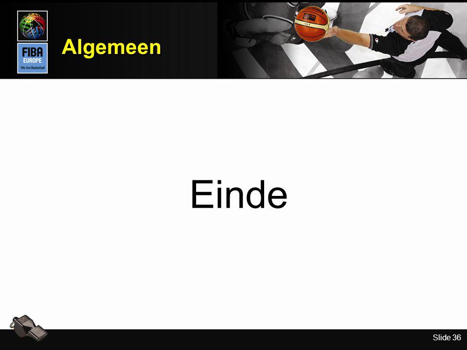 Slide 36 Algemeen Einde