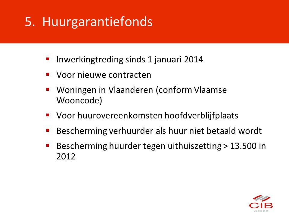  Inwerkingtreding sinds 1 januari 2014  Voor nieuwe contracten  Woningen in Vlaanderen (conform Vlaamse Wooncode)  Voor huurovereenkomsten hoofdve