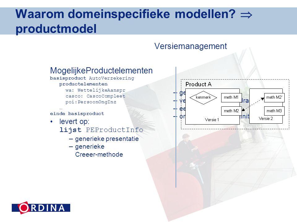 Waarom domeinspecifieke modellen.
