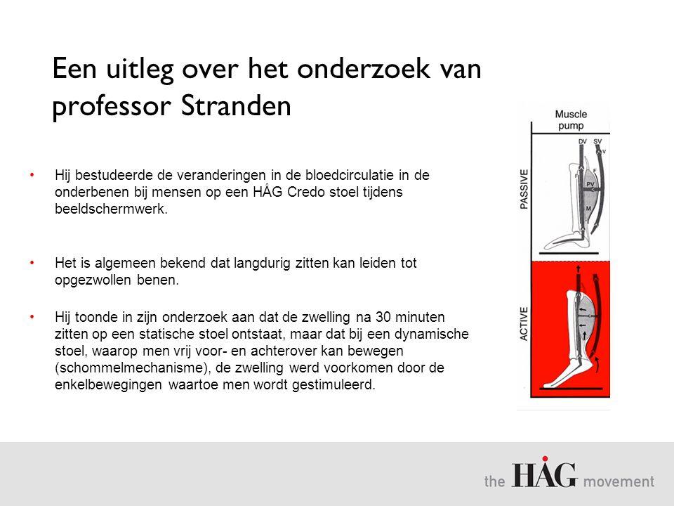Een uitleg over het onderzoek van professor Stranden •Hij bestudeerde de veranderingen in de bloedcirculatie in de onderbenen bij mensen op een HÅG Cr