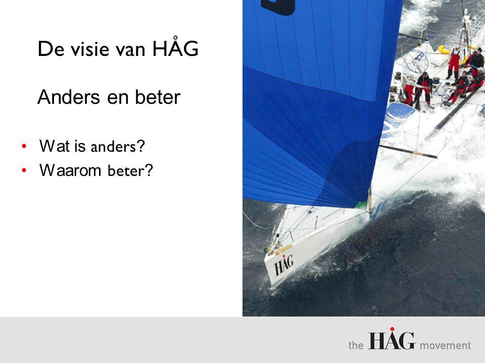 De visie van HÅG Anders en beter •Wat is anders ? •Waarom beter ?