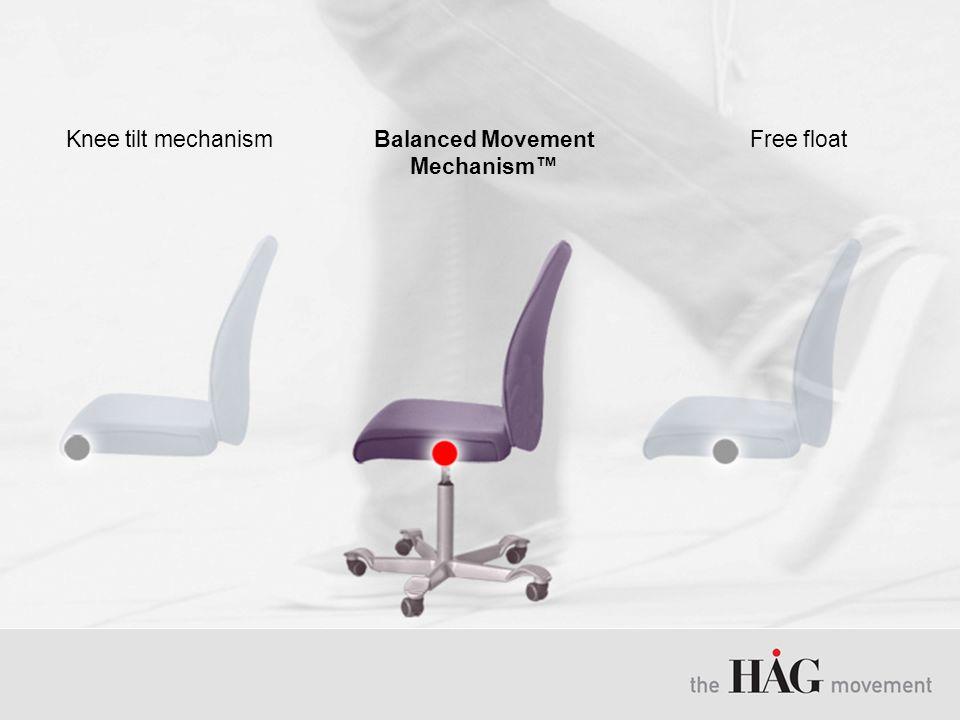 Free floatBalanced Movement Mechanism™ Knee tilt mechanism