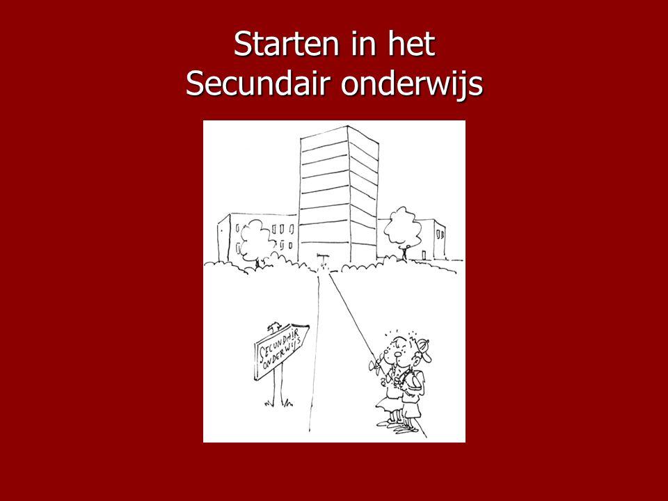 Starten in het Secundair onderwijs
