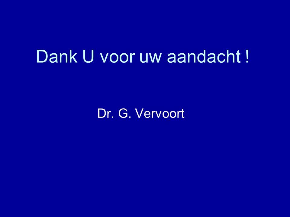 Dank U voor uw aandacht ! Dr. G. Vervoort