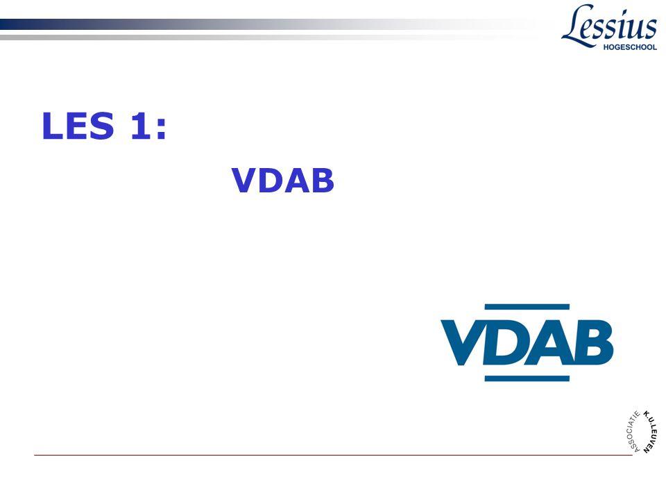 LES 1: VDAB