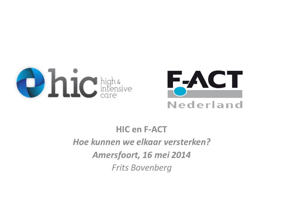 HIC en F-ACT Hoe kunnen we elkaar versterken? Amersfoort, 16 mei 2014 Frits Bovenberg