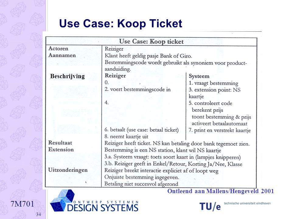 7M701 34 Use Case: Koop Ticket Ontleend aan Mallens/Hengeveld 2001 Beschrijving