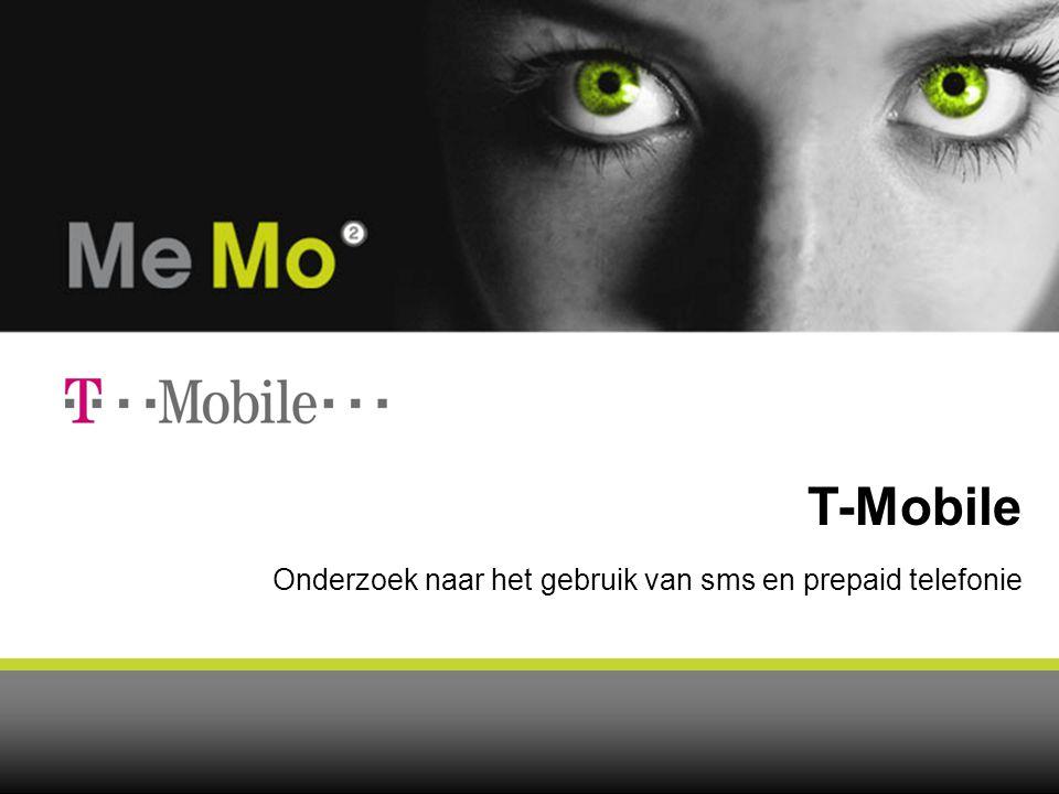 Onderzoek naar het gebruik van sms en prepaid telefonie T-Mobile