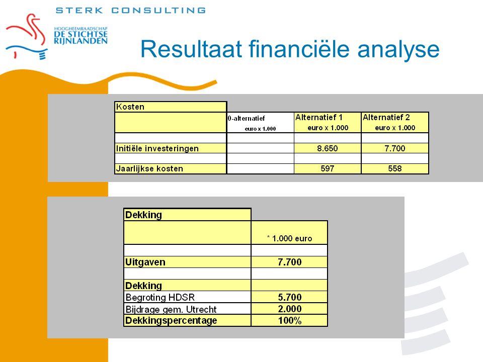 Resultaat financiële analyse
