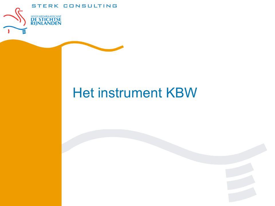 Het instrument KBW