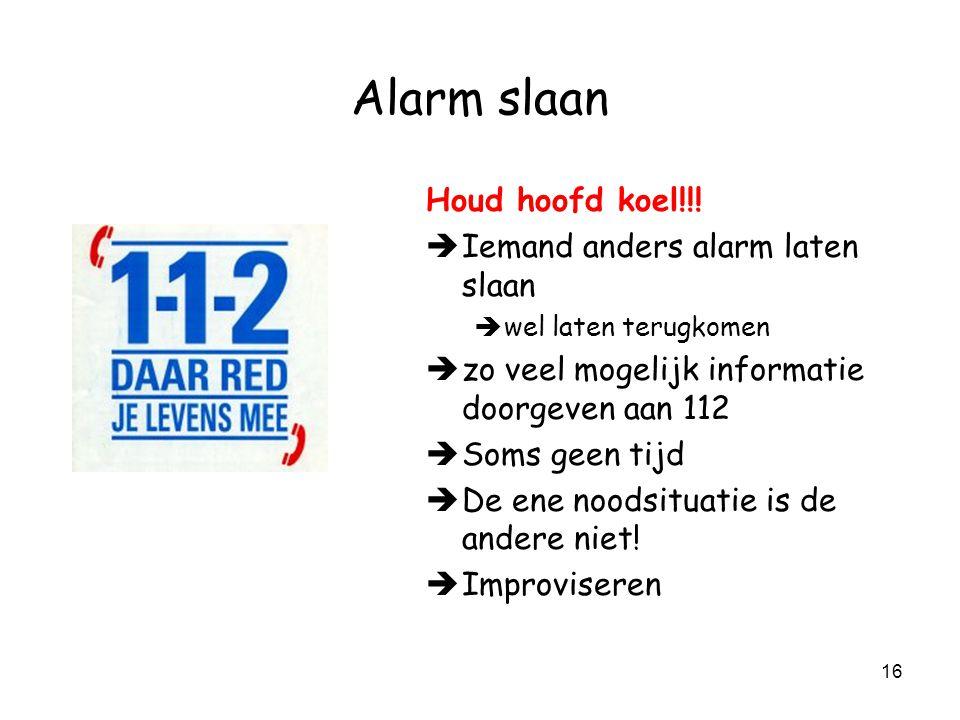 15 Alarm slaan