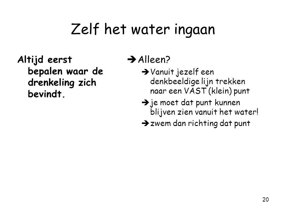 19 Zelf het water ingaan