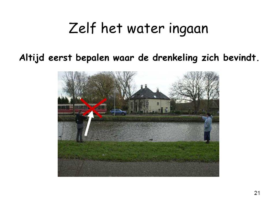 20 Zelf het water ingaan è Alleen.
