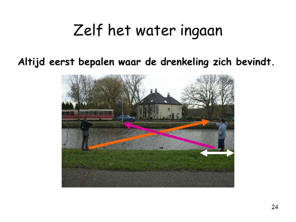 23 Zelf het water ingaan Hulp van iemand.