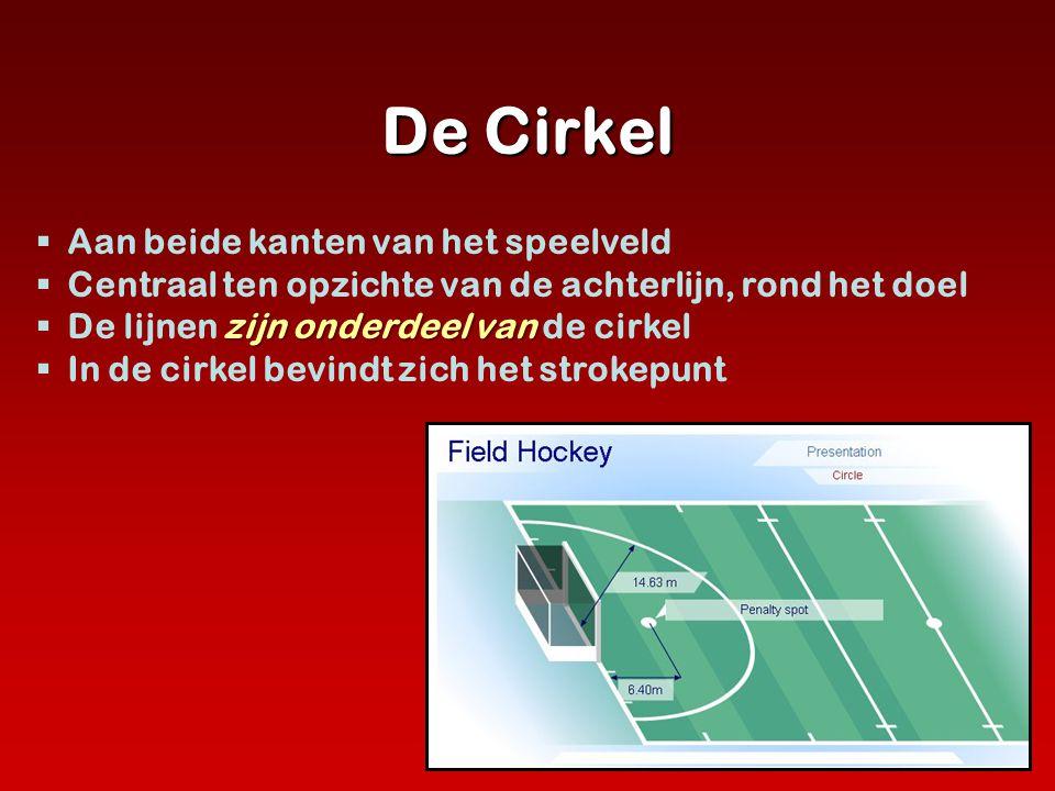 De Cirkel  Aan beide kanten van het speelveld  Centraal ten opzichte van de achterlijn, rond het doel zijn onderdeel van  De lijnen zijn onderdeel