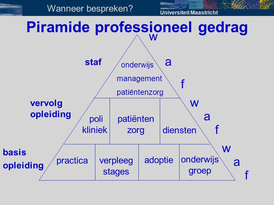 Piramide professioneel gedrag onderwijs groep diensten w w w a f a f f patiënten zorg poli kliniek onderwijs management patiëntenzorg practica verplee