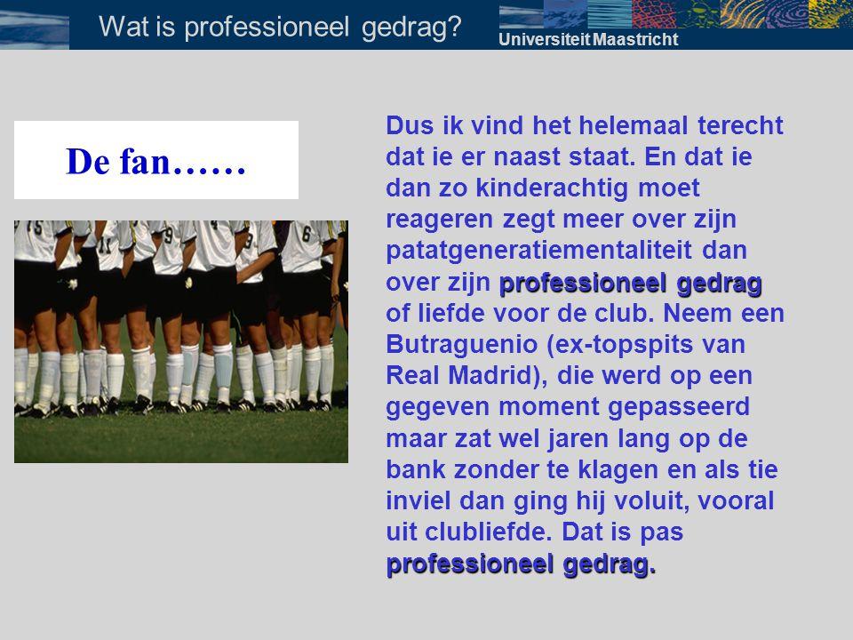 In onderwijsgroepen Universiteit Maastricht Wanneer bespreken?