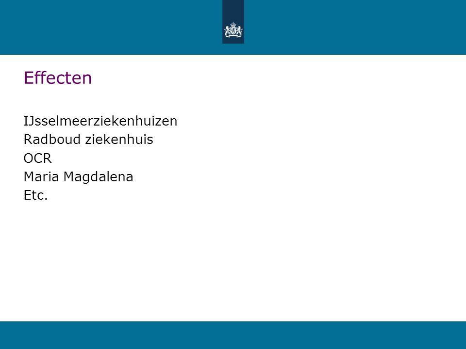 Effecten IJsselmeerziekenhuizen Radboud ziekenhuis OCR Maria Magdalena Etc.