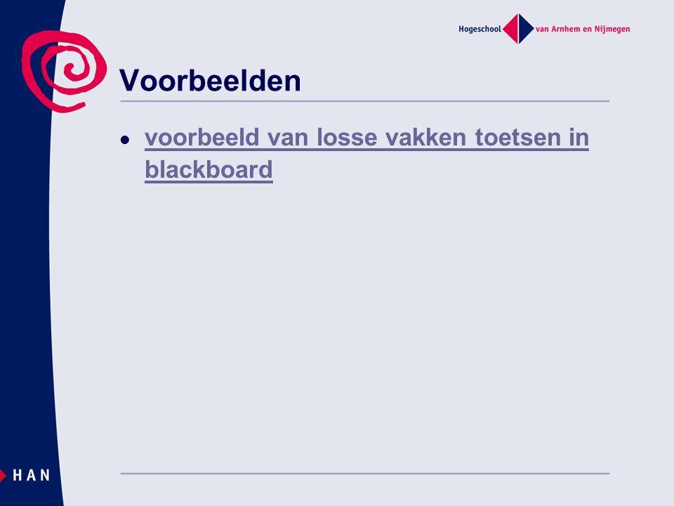 Voorbeelden  voorbeeld van losse vakken toetsen in blackboard voorbeeld van losse vakken toetsen in blackboard