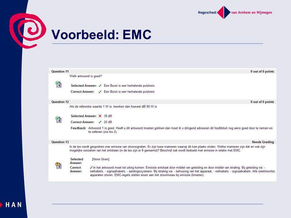 Voorbeeld: EMC