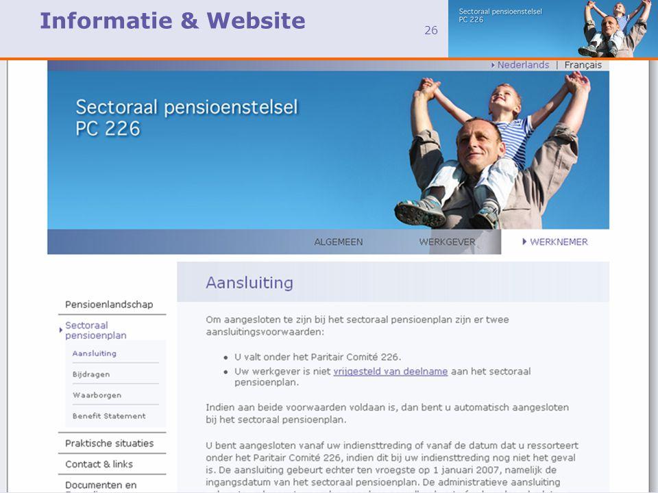 26 Informatie & Website