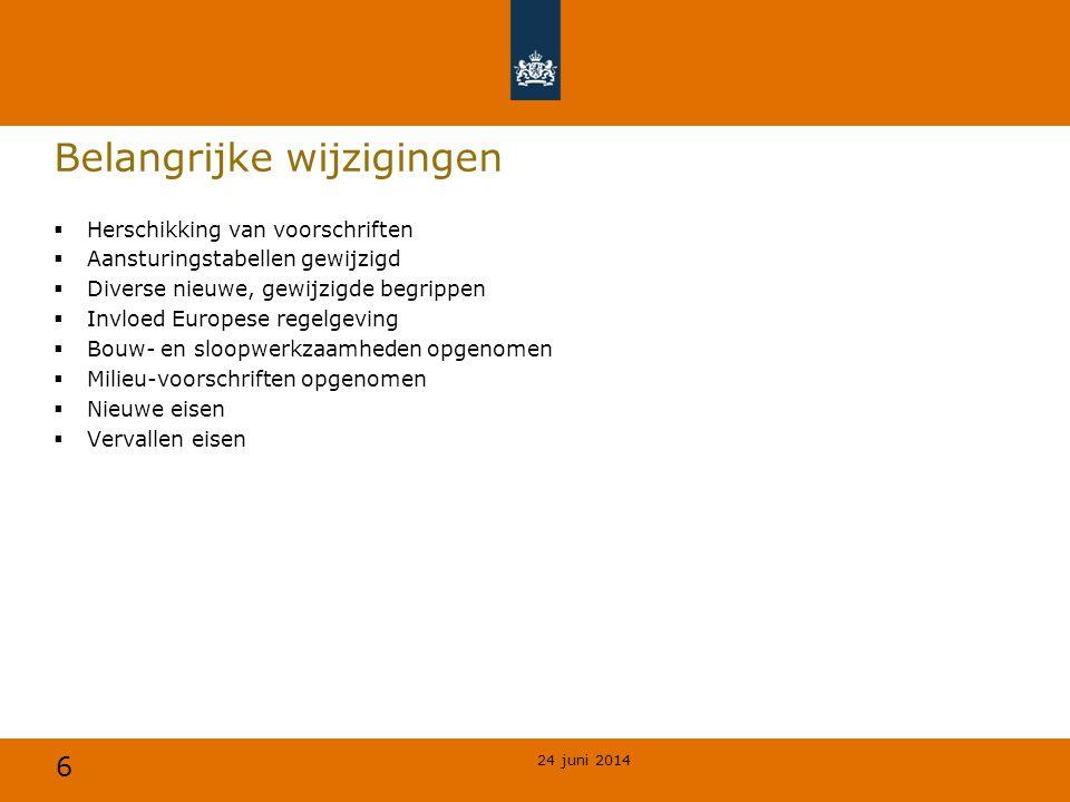 47 Vluchtroutes, nieuwbouw 24 juni 2014 § 2.12.1 Nieuwbouw AspectBelangrijkste eisen Art.