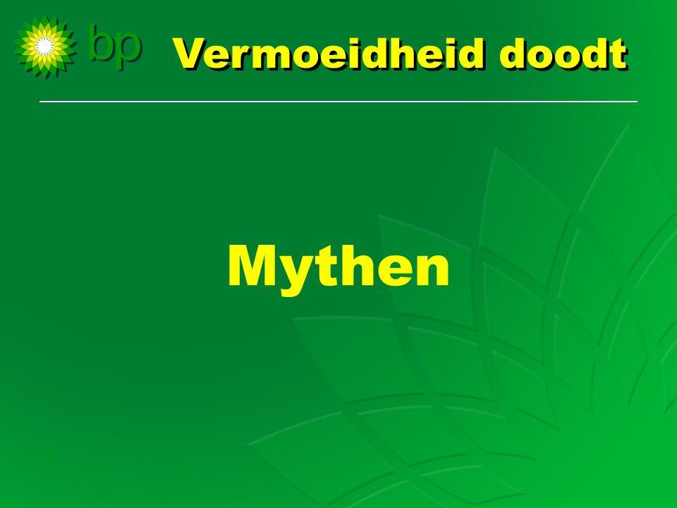 Mythen Vermoeidheid doodt