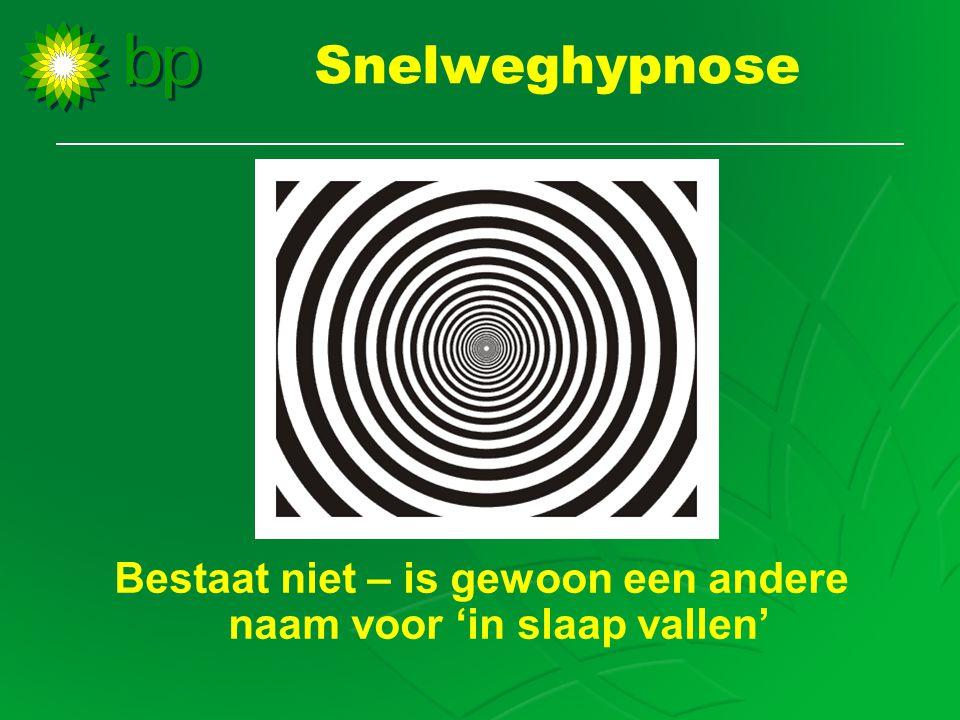 Snelweghypnose Bestaat niet – is gewoon een andere naam voor 'in slaap vallen'