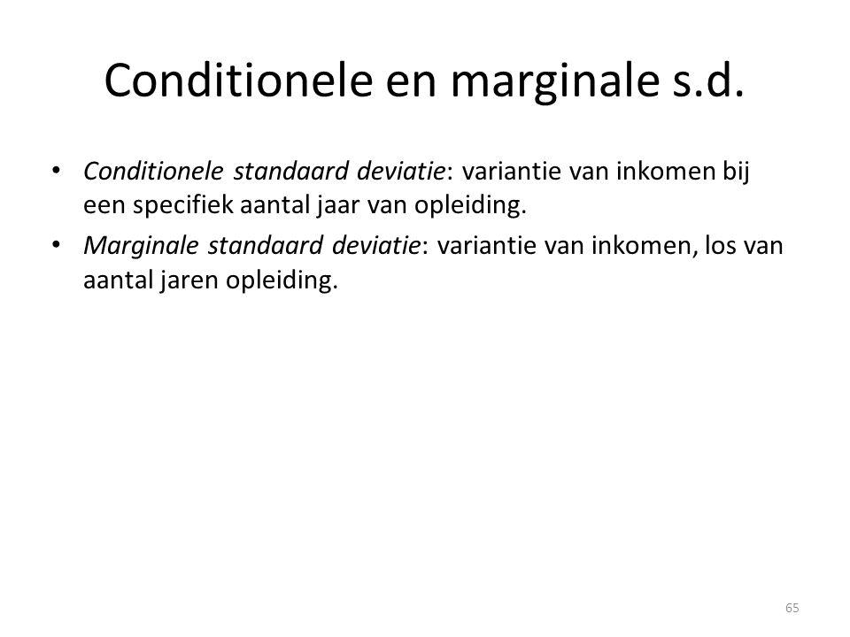 Conditionele en marginale s.d.